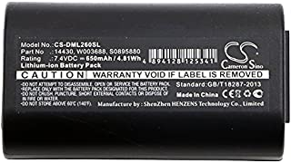 XPS Replacement Battery for 3M PL200 DYMO 260P 280 LabelManager 260 260P 280 LabelManager PnP PN 3M 14430 S0895880 W003688 DYMO 14430 1758458 S0895880 S0915380 W003688 650mAh