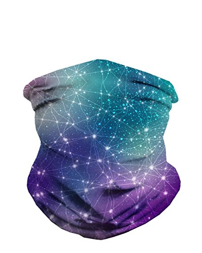 Constellations Galaxy Neck Gaiter Mask Full Face Covering - Cool Breathable Lightweight Fabric Mouth Gator for Men & Women iHeartRaves
