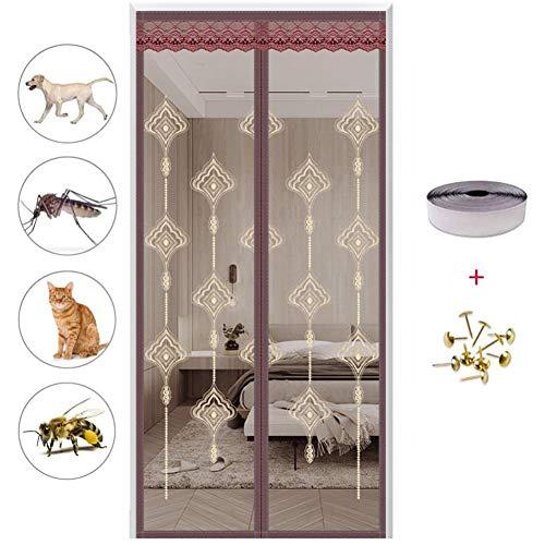 Horren Voor Deuren Magnetic Mesh, Kunnen Automatisch Worden Gesloten, Children's Room Curtain Anti-Mug Insect Voor Balcony Schuifdeur Living Room,B,170 * 220cm