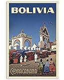AZSTEEL Vintage Travel Bolivia Copacabana | Poster No Frame