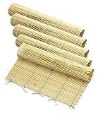 5pcs Sushi Roll Mat Bamboo, Mat de sushi Sushi Roll, Estera de bambú ecológica,...
