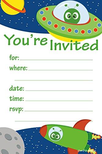 space birthday invitations - 9