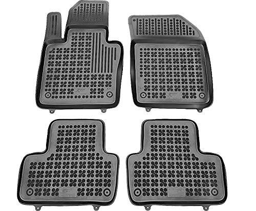 Rezaw-Plast Alfombrillas de Goma Compatible con Volvo XC60 II (Desde 2017) + Limpiador de Plasticos (Regalo) | Accesorios Coche Alfombrilla Suelo
