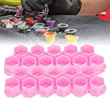 200Pcs Hot Sale Multiple Colour Tattoo Ink Cups, Honeycomb Shape Pigment Holder Cups, Permanent Makeup Supplies Small Pigment Container Tattoo Accessories Supplies of Body Art Ink (pink)