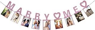 Hatcher lee Marry Me Photo Banner Pink Foiled for Wedding Sign Bridal Shower Banner Hen Night Bunting