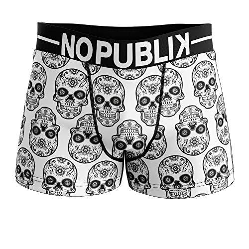 No Publik Boxer Homme Microfibre Mexican Skull White
