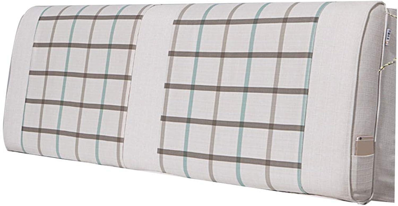WENZHE Cushion Flax Soft Case Home Bedroom Sponge Waist Pad Washable, 5 colors (color   E, Size   180x60x10cm)