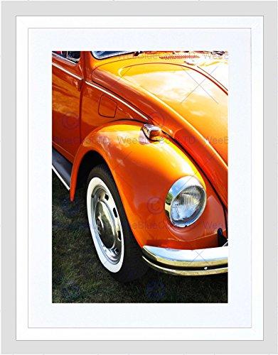 Vintage Auto Bug Kever VW Koplamp Wiel Ingelijste Muur Art Print