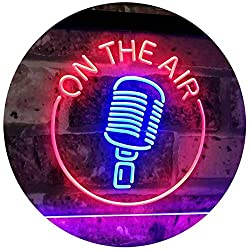 gift idea for ENTJ entrepreneurs on the air microphone neon sign