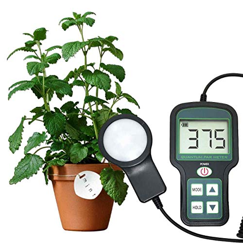 Quantum PAR Meter - High Precision, Grow Light meter, Indoor Plants meter, Good for Growing droseras and All Indoor Plants,Rechargeable
