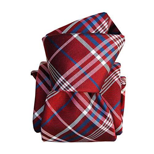 Segni et Disegni - Cravate Segni Disegni Luxe, Faite Main, Livigno, Rouge