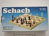 Schach - elegante Holzkassette (klappbar), ca. 30 x 15 cm, mit Spielanleitung, Königshöhe 72 mm.