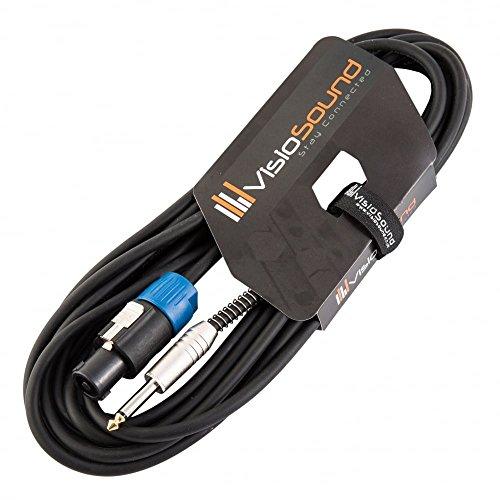 PA Lautsprecherkabel 6,3mm Klinke auf Speakon Kompatibel mit Rean/Neutrik Stecker/Professionelles Boxenkabel 6m