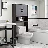 "Ameriwood Home Classic Over The Toilet Storage Cabinet, 63.6""H x 26.69""W x 9.84""D, Espresso"