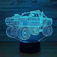 オフロード車の制御3DLedナイトライトLedUSBラブリー7色変更3Dランプリモコン