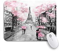 ECOMAOMI 可愛いマウスパッド パリの油絵 滑り止めゴムバッキングマウスパッドノートブックコンピュータマウスマット