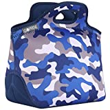 GOPRENE Lunch Bag For Boys, Fits A Kids Lunch Box, Insulated Neoprene Bag, Blue Camo, Bento Box and...