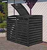 Promadino Mülltonnenbox Vario III für 2 Tonnen
