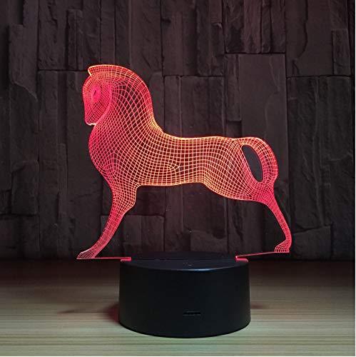 3D Veilleuses Poney Cheval 3D Led Lampe 7 Couleurs Changer Led Usb Acrylique Petite Veilleuse Lampe D'Ambiance Intérieure Pour Enfants Jouets Et Cadeaux Du Nouvel An
