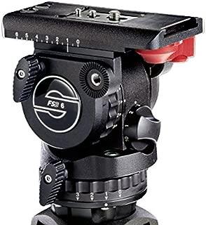 Sachtler FSB 6T Pro Video Fluid Head, (75mm Ball) 3+3 Damping, Touch & Go Plate DV, & Single Pan Bar