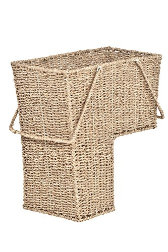 Trademark Innovations 15' Wicker Storage Stair Basket with Handles