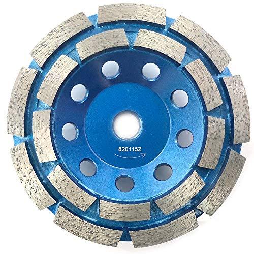 Kingthai 4.5 Inch Concrete and Masonry Double Row Diamond Grinding Cup Wheel for Angle Grinder, 7/8