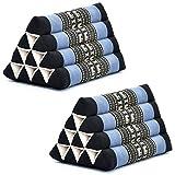 Leewadee Cojín Triangular Juego de 2 Piezas Almohada...