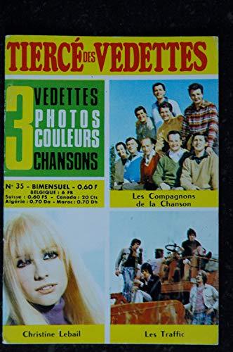 Le tiercé des Vedettes n°35 1969 08 Les Compagnons de la Chanson Christine Lebail Les Traffic