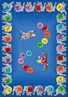 Joy Carpets Kid Essentials Early Childhood Circus Elephant Parade Rug Multicolored 7'8 x 10'9 [並行輸入品]