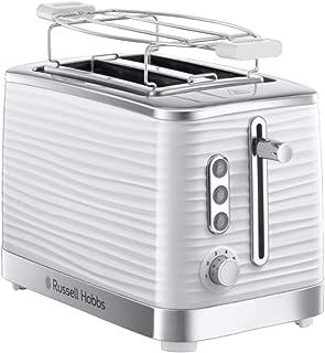 Russell Hobbs Toaster Grille Pain XL, Contrôle Brunissage, Décongéle, Réchauffe, Chauffe Viennoiserie - Blanc 24370-56 Ins...