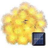 Calentar 7M 50 luces solares de la cadena luces Chuzzle bolas Luz de Navidad decorativos for al aire libre casera del partido de jardín del patio de césped y Decoración de vacaciones (luz blanca cálid