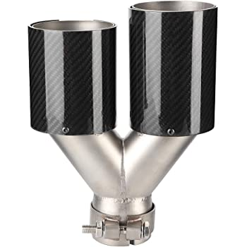 EBTOOLS Stainless Steel Dual Exhaust Tips,Universal Car Modified Double Exhaust Pipe Rear Muffler Tip Tail Throat