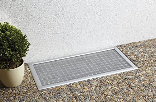 matrasa Profi Kellerschachtabdeckung aus Aluminum mit robustem Gewebe und runden Kanten (60 cm x 115 cm)