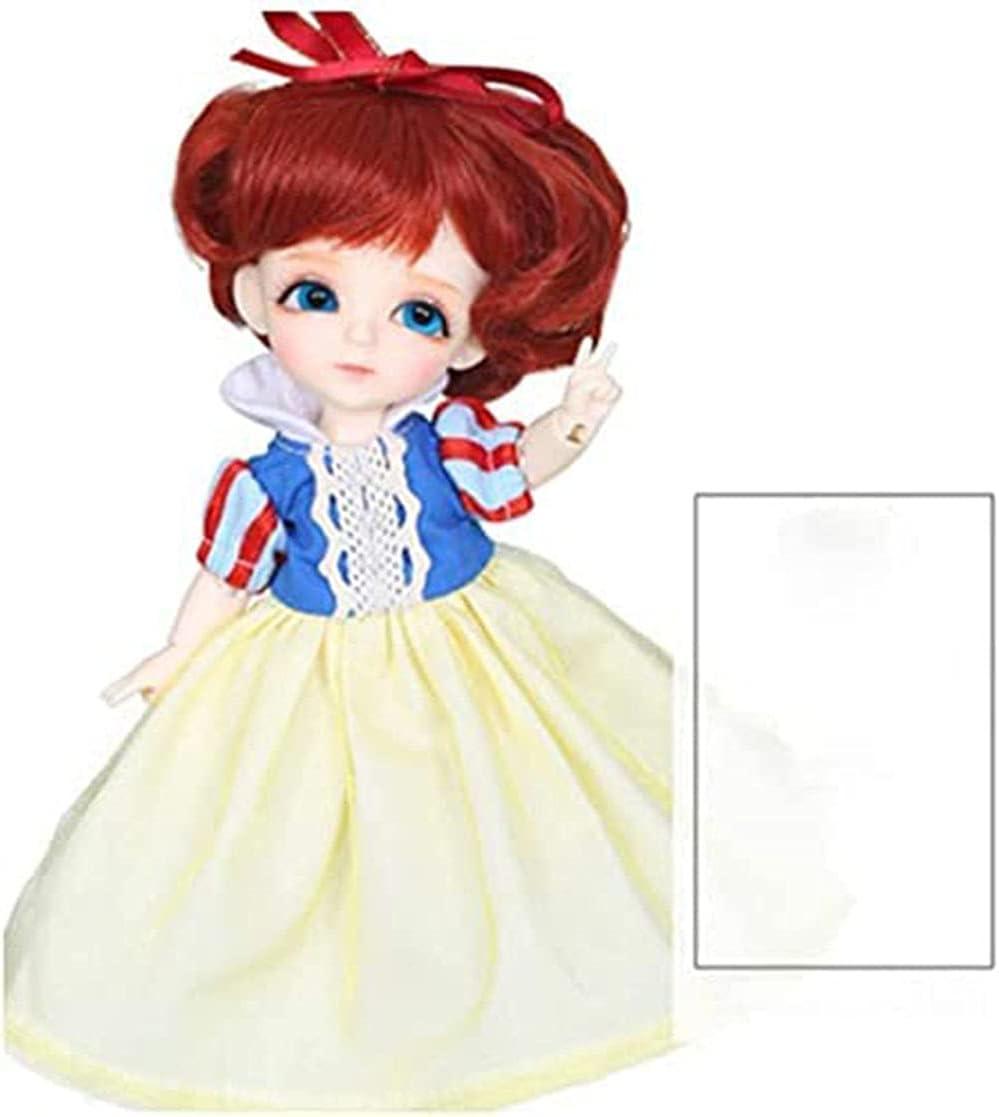 16cm Ball Jointed Dolls 1/8 BJD Doll Mini Customized SD Doll Ful