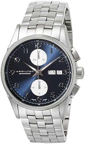 Hamilton Jazzmaster Maestro Auto Chrono H32576141 acero Esfera azul