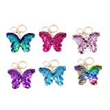 GARNECK 3pcs llaveros de mariposa llaveros con lentejuelas de moda adornos colgantes colgante decorativo para bolso llaves coche