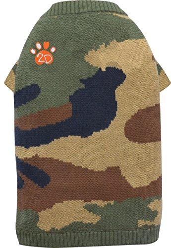 Doggydolly W355 außergewöhnlicher Strickpullover/Hundesweater in Camouflage Design, Stickerei 2D Pfote, XXL