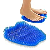 Shower Foot Scrubber - Foot Cleaner Non Slip Silicone Pad for Shower Floor Massage Mat Improve Circulation Relieve Tire and Pain Blue