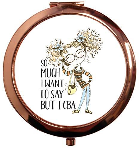 Flox Creative T-shirt avec miroir carré carré Doré Rose So Much to Say But I CBA Illustration