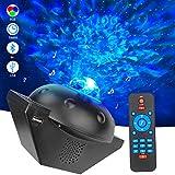 Suweir Proyector de cielo estrellado LED, 6 colores, proyector de luz con Bluetooth, para fiestas, Navidad, Pascua, decoración (negro)