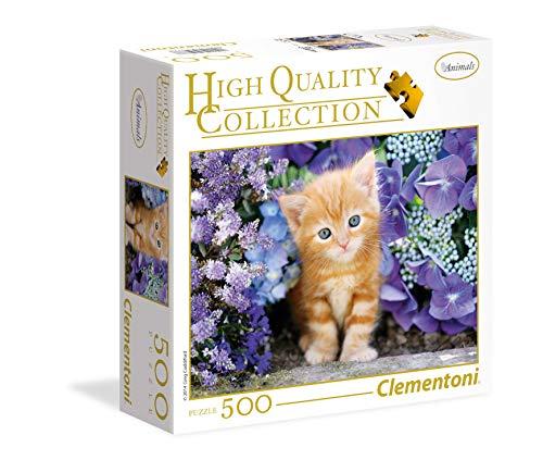 Clementoni Ginger Cat 95977 Collection - Puzzle (500 piezas), diseño de gato