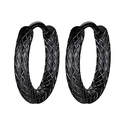 PROSTEEL Gothic Earrings Stainless Steel Black Hoop Earrings Men