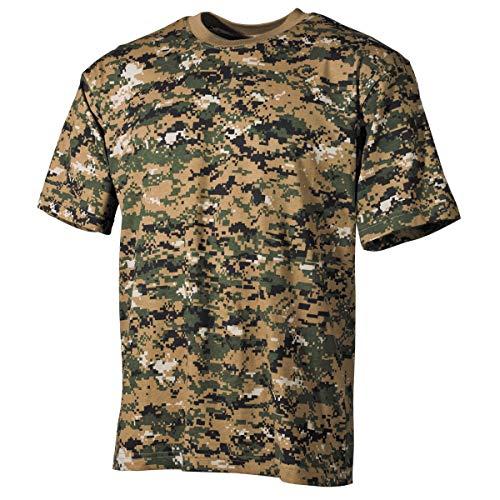 MFH T-Shirt de Camouflage pour Homme de l'armée américaine (Digital Woodland/M)