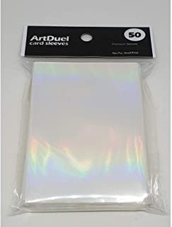 ArtDuel Pokemon Card Sleeves MTG Deck Protector Standard Size Shield - Rainbow Effects Holographic Clear
