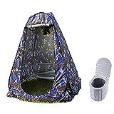 JTYX Tienda de Ducha Inodoro Plegable portátil Tienda de privacidad Inodoro para Acampar al Aire Libre con Tapa 12 Bolsas de Limpieza Cambio de baño al Aire Libre Vestidor Refugios de privacidad