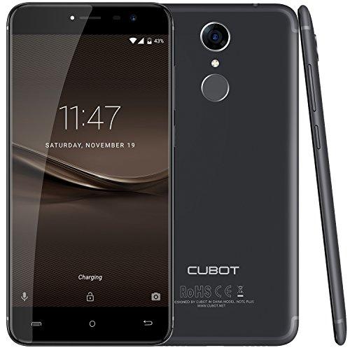 Cubot Note Plus (2017) Android 7.0 4G-LTE Dual Sim Smartphone ohne Vertrag, 5.2 Zoll IPS HD Touch-Display, 3GB Ram+32GB interner Speicher, 16MP Hauptkamera / Samsung 16MP Frontkamera, Schwarz