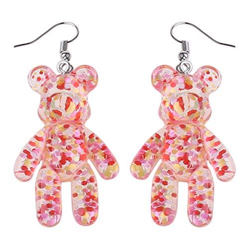 MIORIO Pendientes de Gota artesanales de Oso para Mujer, joyería de Fiesta, Cristal Multicolor Coreano A