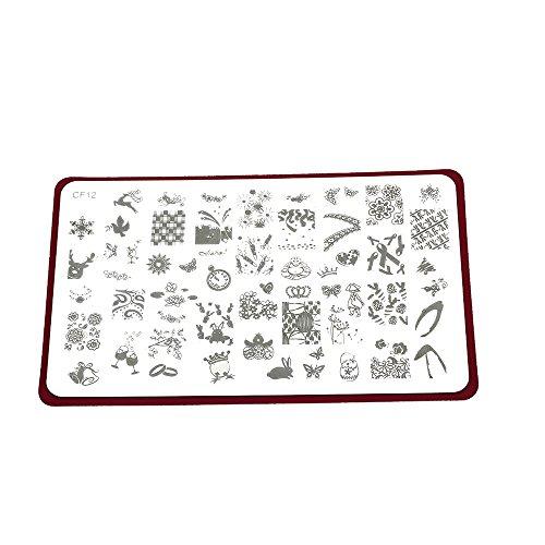 PKA Nail Art Drucker-Platte, Stempel, Drucker, Stahlplatte, Fingernagel-Muster, schöne Tiere, Marken, Zeichnungen, Dekoratives Allround-Muster