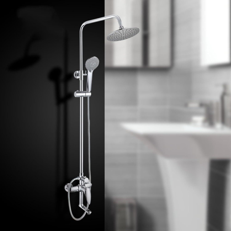 ZHH shower set European shower set hot and cold shower set shower set bathroom handrail set bathroom home shower faucet wall mounted shower hand shower