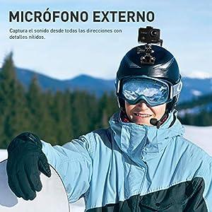 Crosstour Cámara Deportiva 4K 16MP WiFi Cámara Acción Acuática Agua de 40M con Micrófono Externo y 2 Baterías Recargables Anti-Vibraciones Time Lapse y Múltiples Accesorios Kit